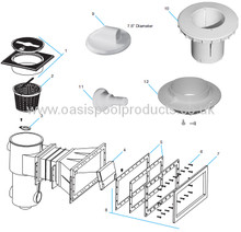 Buy Spare Parts For Plastica Skimmers Standard & Widemouth