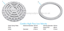 Buy Certikin High Flow Low Velocity Main Drain - Anti-Vortex