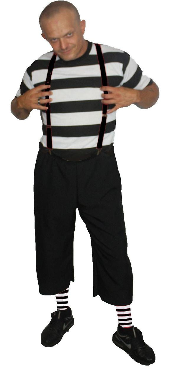 Mens The Addams Family Black & White Stripe Pugsley ...