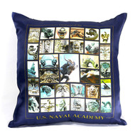Creatures of the US Naval Academy Silk Satin Pillow Cover