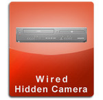 DVD VCR Player Wired Series Hidden Nanny Camera  -  DVDVCR-WIRED