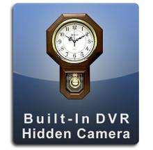 Oak Pendulum Clock DVR Series Hidden Camera Spy Camera Nanny Camera