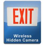 Exit Sign Wireless 1000 Hidden Spy Cameras  -  EXIT-1000
