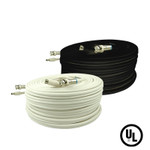 25 Foot RG59 Video and Power Cable for HD SDI Megapixel Security Cameras