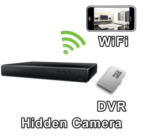 WiFi DVD Player Hidden Camera Spy Camera Nanny Cam