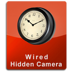 Wired Series Antique Wall Clock Hidden Cameras