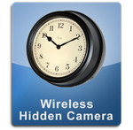 Wireless Wall Clock Hidden Camera Spy Camera Nanny Cam Antique Style