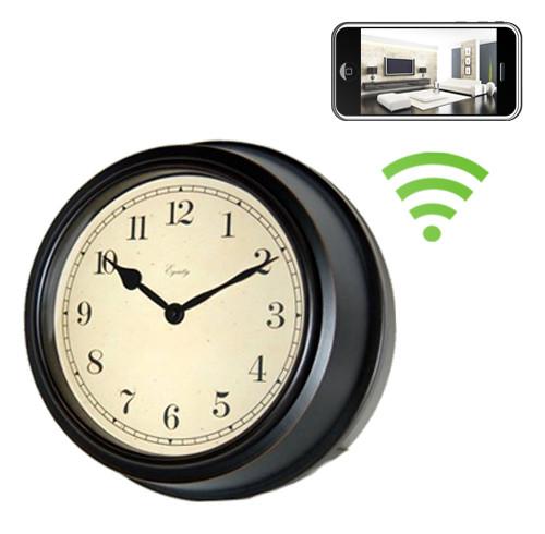 07123a4cae2d WiFi Antique Style Wall Clock Hidden Camera Spy Camera Nanny Cam