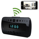 WiFi Alarm Clock Hidden Camera 1920x1080 Micro SD Card Recorder Viewing from iPhone and Android