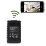 AC Adapter Style Hidden Camera with Built-in DVR and WiFi Remote Viewing 1280x720 HD Video Micro SD Card Recorder