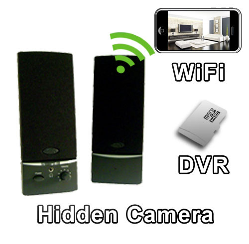 Computer Speakers Hidden Camera Spy Camera Nanny Cam Hidden Camera with WiFi DVR IP Live