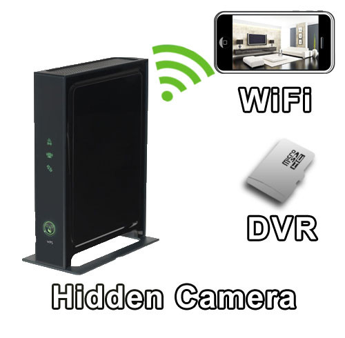 WiFi Wide Front Profile Style Router Hidden Camera Spy Camera Nanny Cam