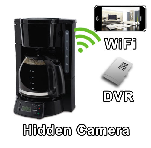 Full Pot Coffee Maker Hidden Camera Spy Camera Nanny Cam Hidden Camera with WiFi DVR IP Live