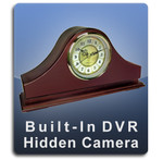 Built-In DVR Mantle Clock Hidden Camera