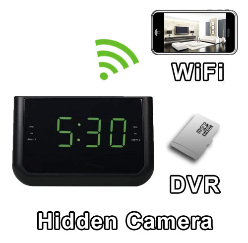 WiFi Alarm Clock Hidden Camera Spy Camera Nanny Cam