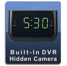 Alarm Clock Radio DVR Series Hidden Nanny Camera  -  ALARMCLOCKRADIO-DVR