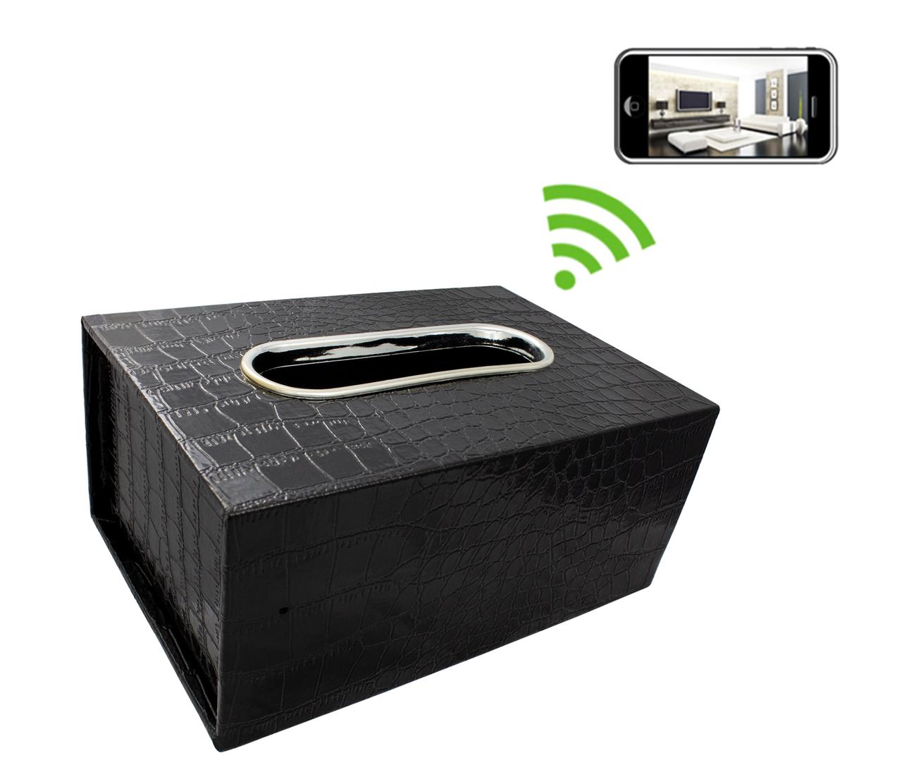 Tissue Box Hidden Camera with DVR 1280x720