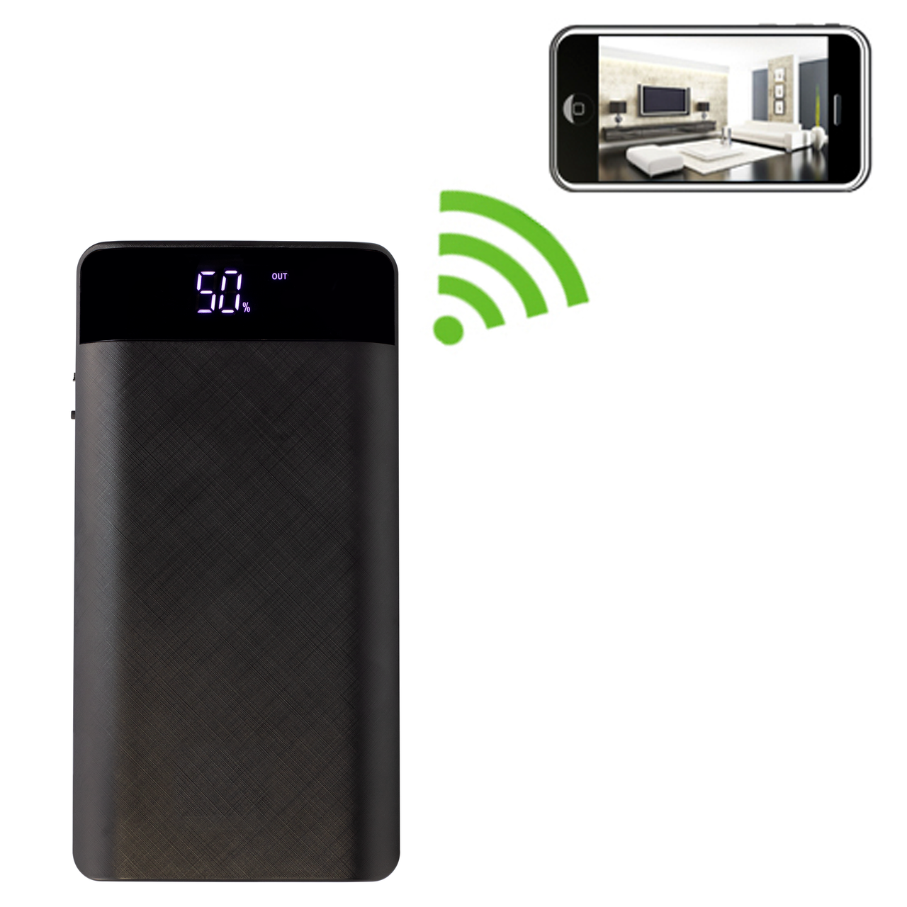 Black Box Power Bank Hidden Camera with WiFi and Extended Battery Life