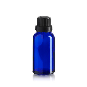 30 ml Blue Euro Bottle w/ Black Cap