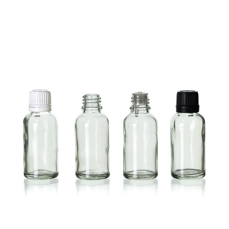 30 ml Clear Euro Bottle w/ Cap