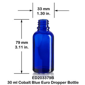 30 ml Blue Euro Bottle w/ Dropper