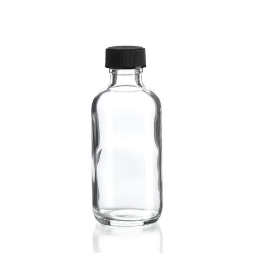 2 Ounce Boston Round Bottle - Cap Included