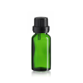 20 ml Emerald Green Euro Dropper Bottle - Pkg. of 25