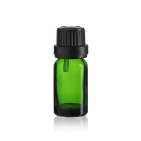 10 ml Emerald Green Euro Dropper Bottle - Pkg. of 192