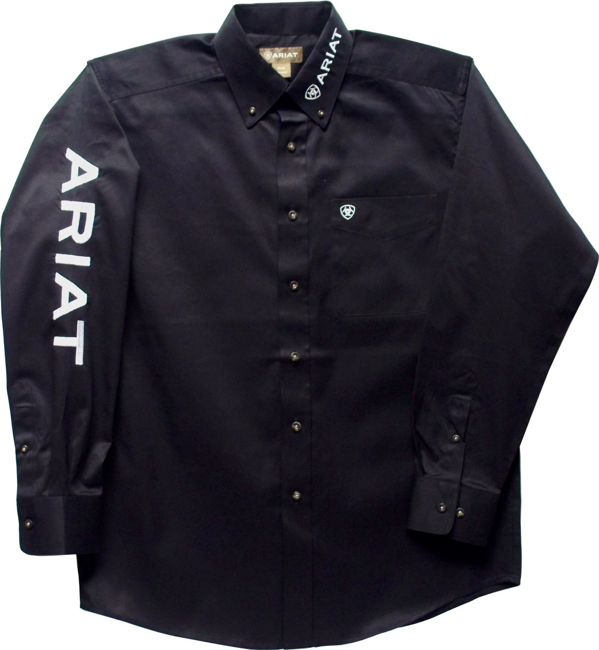 Ariat Mens Black Embroidered Team Logo Shirt 10017497
