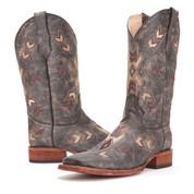 Circle G Black/Bone Arrowhead Sq. Toe Boots