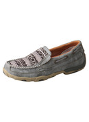Twisted X Women's Slip-On Driving Moccasins – Grey/Multi