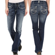 Women's Ariat REAL Boot Cut Entwined Marine