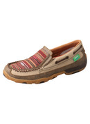 Twisted X Women's ECO TWX Slip-On Driving Moccasins – Khaki/Multi