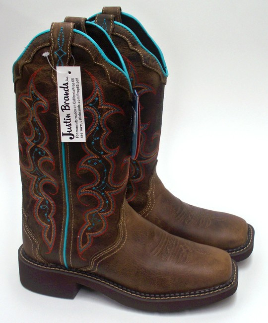 c721e74746333 Justin Ladies Brown Leather Gypsy Boots Tan Jaguar - South 40 ...
