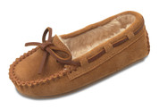 Minnetonka Girls Cassie Suede Pile Lined Slipper