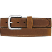 Silver Creek Mens Brown Basic Double Stitch Leather Belt