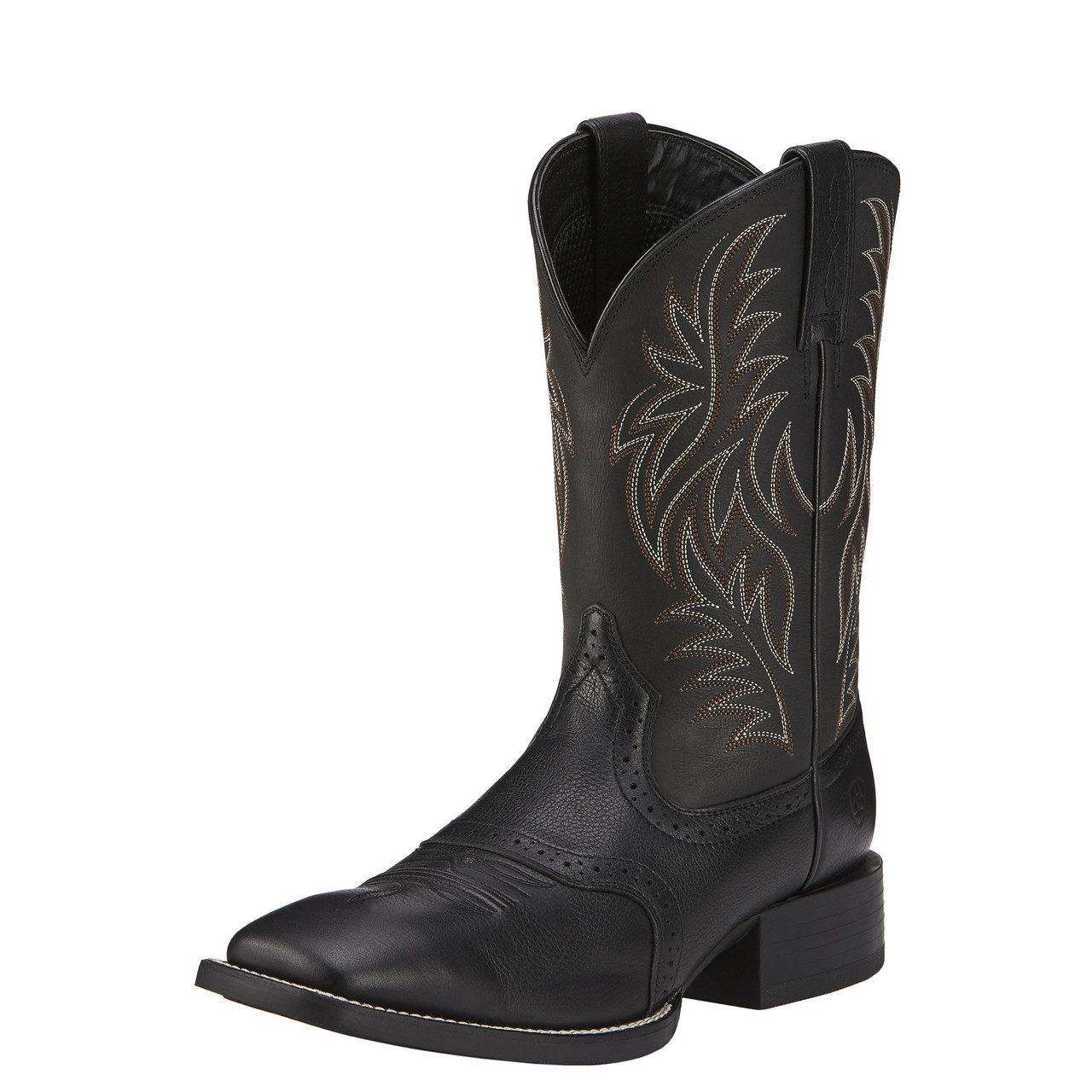 3529b146328 Ariat Mens Black Sport Western Wide Square Toe Boots 10016292