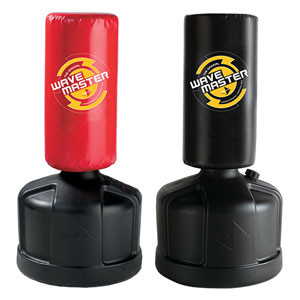 """Our best selling bag! The Original Wavemaster has a durable vinyl cover and high density foam. The base can be filled with sand or water and is rounded for easy roll relocation. Eight height adjustments from 47"""" to 68"""" allowing students to practice kicks and punches at different heights to take their training to the next level. Approximately 270 lbs when filled. Available in Black or Red"""