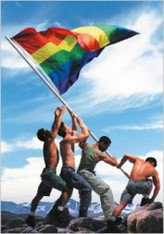 Gay Pride Blank Note Book