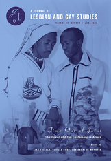 Time out of Joint: The Queer and the Customary in Africa