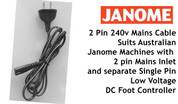 Buy your 2 Pin 240v Mains Cable to Suit Janome DC Motor Computer Models Online at Bargain Box