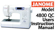 Buy your Janome Memory Craft 4800 QC Sewing, Machine, User, Instruction, Manual, Handbook, Download Online at Bargain Box