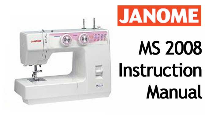 Buy Your Janome New Home MS 40 Sewing Machine User Instruction Unique Instruction Manual For Janome Sewing Machine