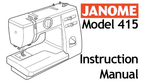 Buy your Janome 415 Sewing, Machine, User, Instruction, Manual, Handbook, Download Online at Bargain Box
