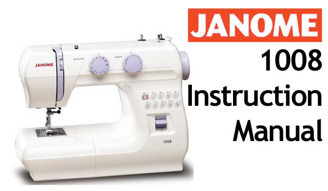 Buy Your Janome 40 Sewing Machine User Instruction Manual Interesting Sewing Machine Manuals Online