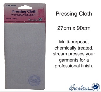 Pressing Cloth 27 x 90cm for a steam pressed professional finish.