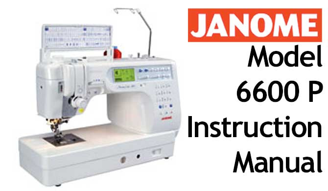 Buy Your Janome New Home Memory Craft MC 40P Sewing Machine User Simple Instruction Manual For Janome Sewing Machine
