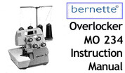 Buy your Bernette Model MO 234 Overlocker Serger Sewing, Machine, User, Instruction, Manual, Handbook, Download Online at Bargain Box