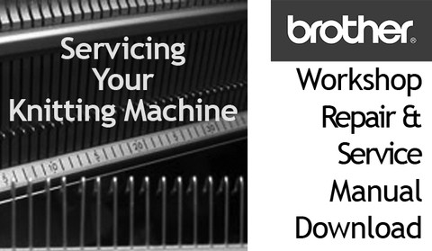 Buy your Brother Knitting Machine Model KH 260 Machine Workshop Repair Service Instruction Manual Download, Handbook, Online at Bargain Box