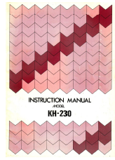 Buy your Brother KH230 Knitting Machine, User, Instruction, Manual, Handbook, Download Online at Bargain Box